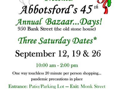 Abbotsford Bazaar Sign